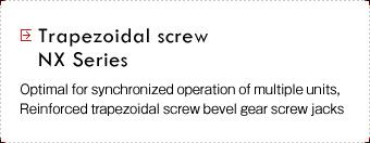 Trapezoidal screws NX Series